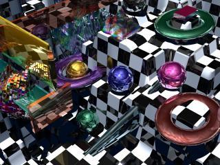 balls, spheres, 3d wallpaper