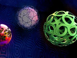 balls, spheres, shapes wallpaper