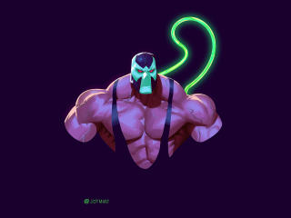 Bane Minimal Art wallpaper