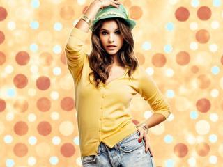 Barbara Palvin In Green Hat HD Pics wallpaper