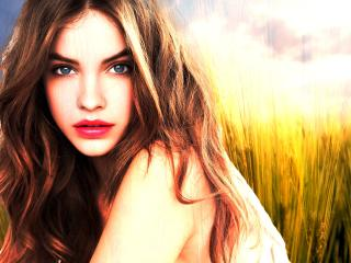 Barbara Palvin Red Lips Pics wallpaper