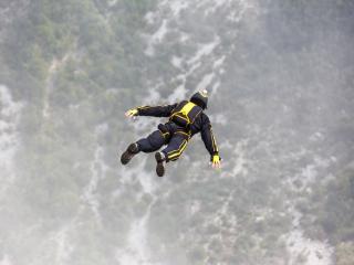 base jumping, sky, parasailing wallpaper