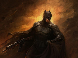 Bat with Gun wallpaper