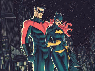 Batgirl and Nightwing DC Comic wallpaper