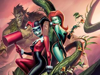 Batman And Harley Quinn Poster wallpaper