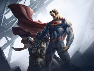 Batman and Superman in Batman Hush wallpaper