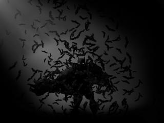 Batman Bats Monochrome DC Comics wallpaper