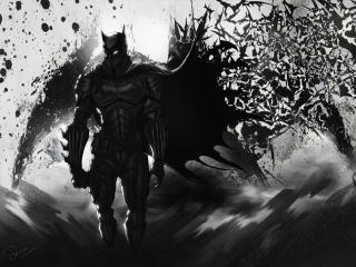 Batman Dark 4K wallpaper
