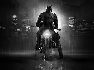 Batman in Batmobile Bike wallpaper