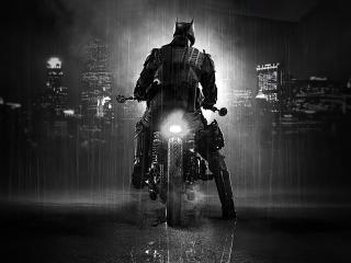 Batman in Batmobile Bike wallpaper