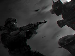 Batman Monochrome Artwork wallpaper