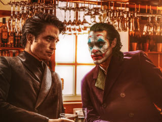 Batman Robert Pattinson & Joker Joaquin Phoenix wallpaper