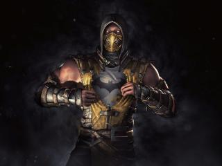 Batman Scorpion Mortal Kombat wallpaper