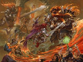 battle, fire, weapons wallpaper