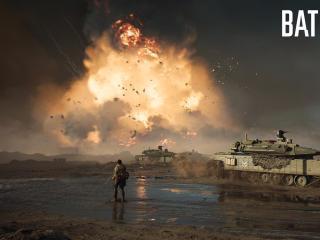 Battlefield 2042 Battleground Explosion Wallpaper wallpaper