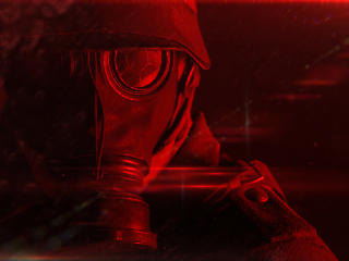 Battlefield Gas Mask wallpaper