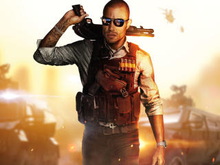 Battlefield Hardline Police with Weapons wallpaper