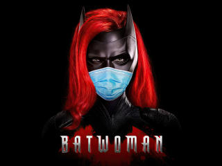 Batwoman Be Safe Mask wallpaper
