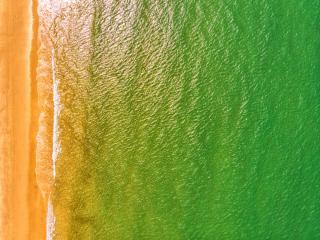 Beach 4k Aerial Photography wallpaper