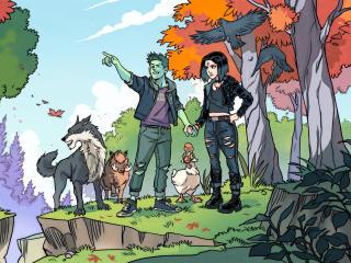 Beast Boy & Raven Fortnite Concept Art wallpaper