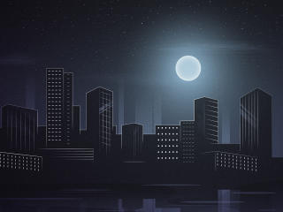 Beautiful City Nightscape wallpaper