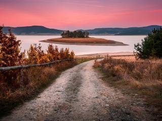 Beautiful Pink Sunset Evening wallpaper