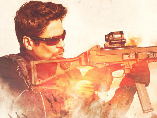 Benicio del Toro Sicario Day of the Soldado Movie wallpaper