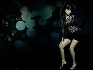 Bhairavi Goswami In Black Dress HD Wallpaper wallpaper