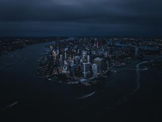 Big Apple Drone View wallpaper