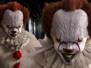 Bill Skarsgard as Pennywise in Movie It wallpaper