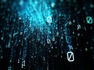 Binary Numbers Raining wallpaper