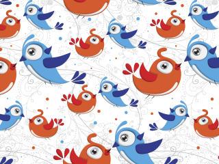 birds, vector, patterns wallpaper