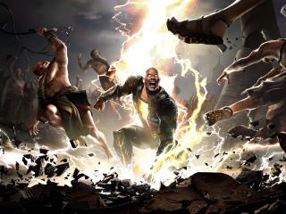 Black Adam Movie Digital Art wallpaper