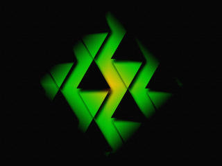 Black & Green Triangle wallpaper