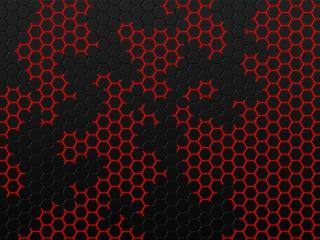 Black and Red Hexagon wallpaper