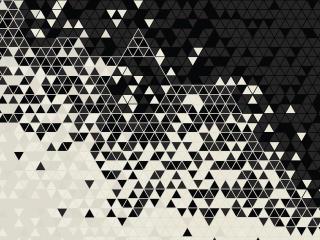 Black & White Triangle Pattern wallpaper