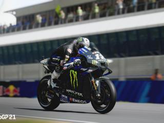 Black Bike MotoGP 21 wallpaper