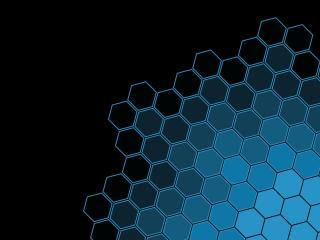 Black Blue Hexagon Pattern wallpaper