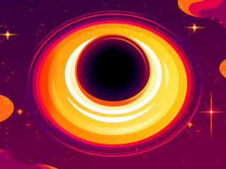 Black Hole SciFi Art 2021 wallpaper