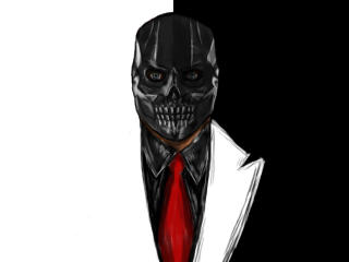 Black Mask Art wallpaper