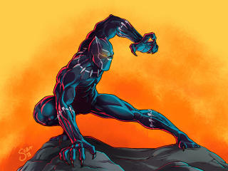 Black Panther Art Marvel Comic wallpaper