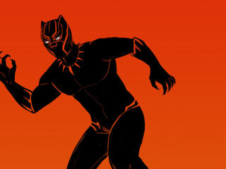 Black Panther Comic Artwork wallpaper