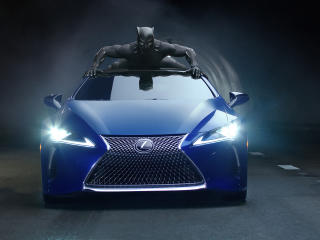 Black Panther Lexus LC 500 2018 wallpaper