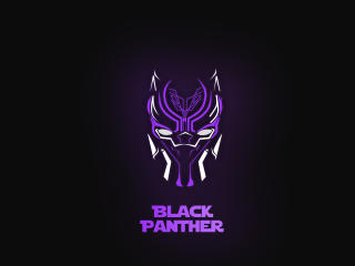 Black Panther Minimal Mask wallpaper