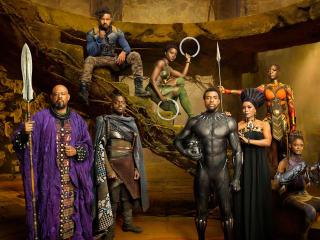Black Panther Movie Cast wallpaper