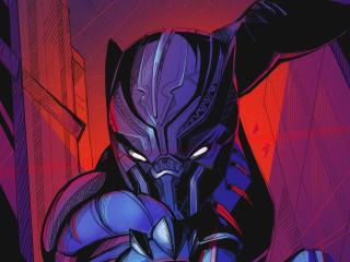 HD Wallpaper | Background Image Black Panther Superhero Art