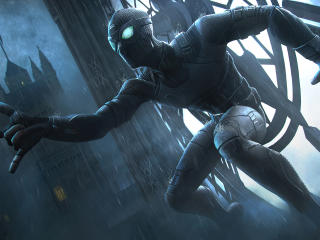 Black Spider man Marvel CoC wallpaper