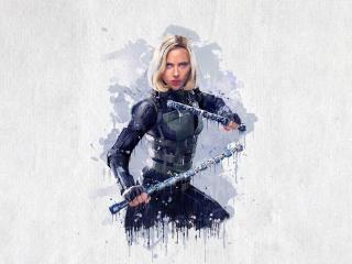 Black Widow Digital Art wallpaper