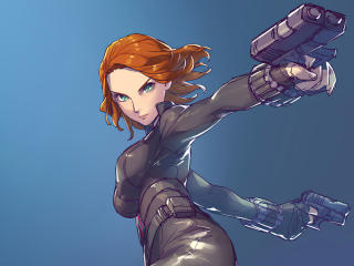 Black Widow Marvel Digital Draw wallpaper