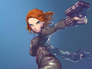 Black Widow Marvel Digital Draw wallpaper